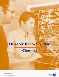 Disaster recovery plan checklist in English